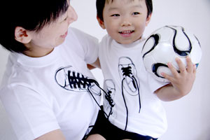 shikisai toddler t-shirt [ canvas shoes ] detail